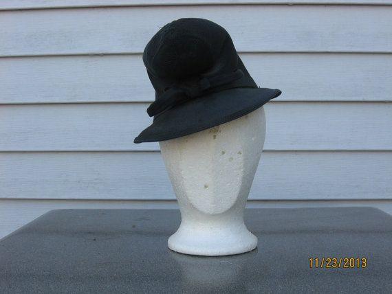1930 paglia alta moda stravaccato corona cappello di MissJessies