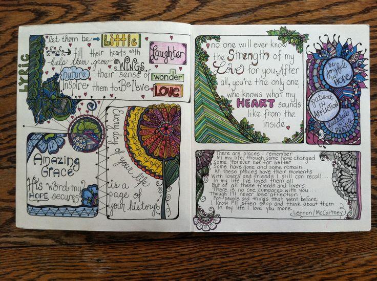 Zen book page 2 | Sketchbooks | Pinterest | Inspiration Sabrina Ward Harrison Sketchbook
