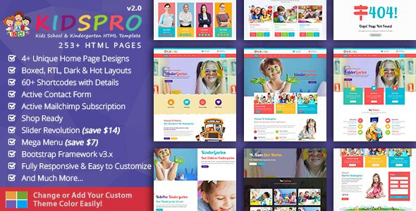 Children Kids School Kindergarten Education - Kids Pro http://themeforu.com #webdesign #website #design #responsive #besttemplates #template #SiteTemplates #Retail #Children
