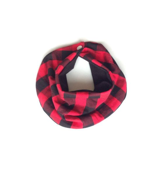 Red Buffalo Plaid Infinity Scarf, baby scarf, bib, bib scarf, trendy baby clothes, baby boy baby clothes, hipster baby clothes, baby shower