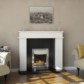 Evonic Fires Brooklyn Polished Chrome Inset Electric Fire
