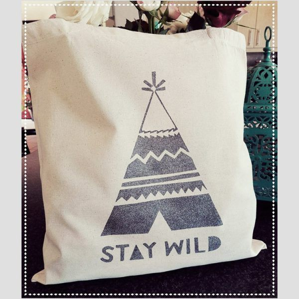 Stay Wild Tote Bags