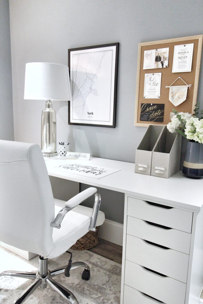 So Make Sure You Design Your Home Office Exactly How You Want From The Perfect Colors See More Ideas About Desk Ikea Home Office Ikea Alex Desk Ikea Home