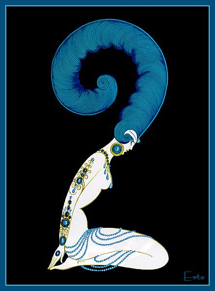 Number 2 - Erte - by style - Art Deco
