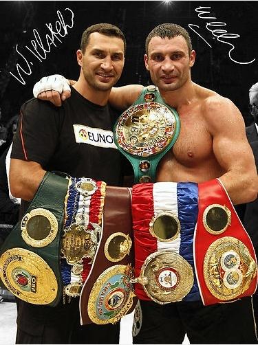 Wladimir and Vitali Klitschko- Ukrainian heavyweight boxers!