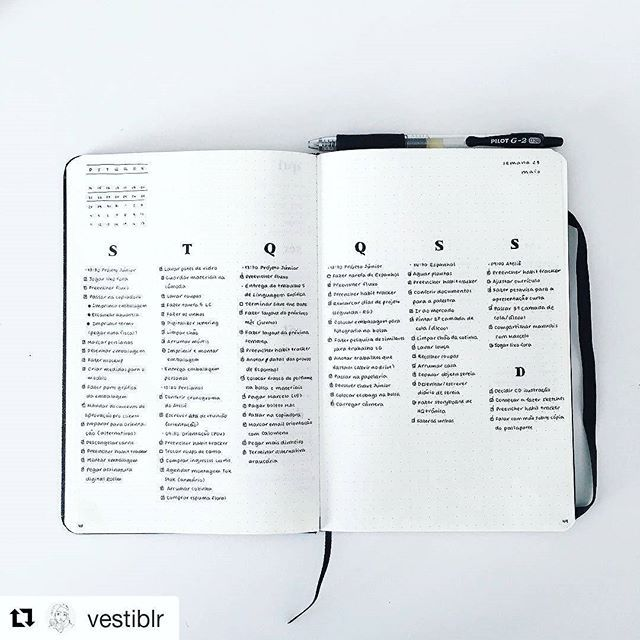 Love this bullet journal spread by @vestiblr