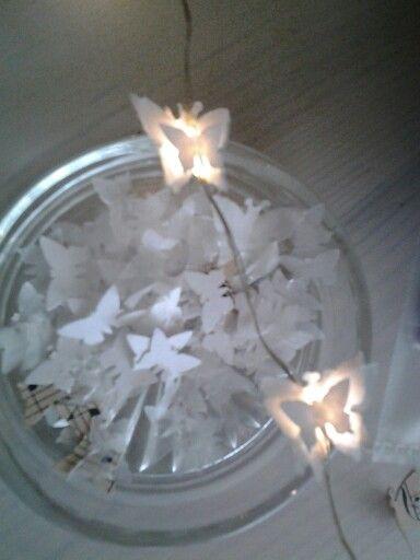 Vlinder verlichting maken van klein vlinder twee sorten papier