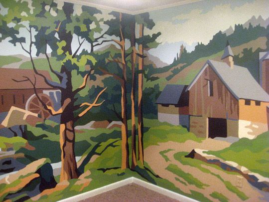 Before U0026 After: Paint By Number Wall Mural
