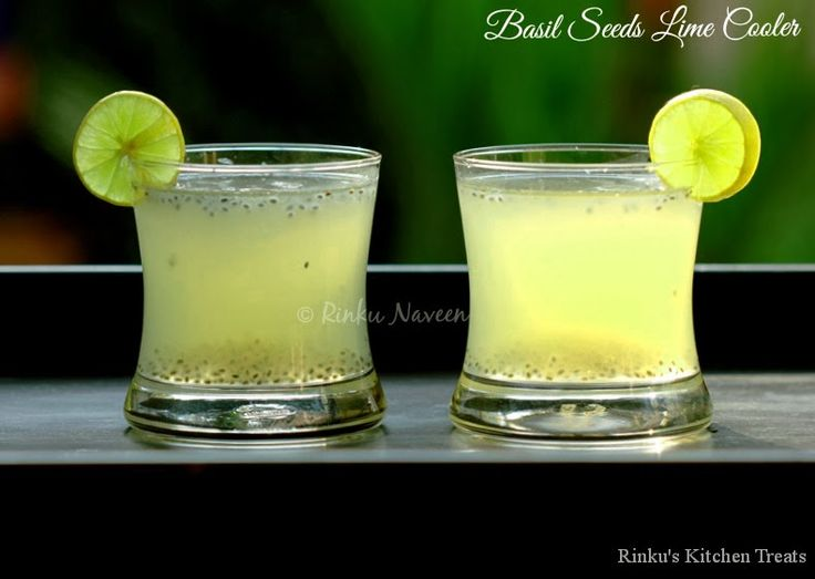 Rinku's Kitchen Treats: Basil Seeds Lime Cooler