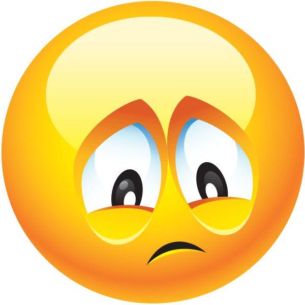 Devastated Face Emoticon