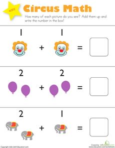 Clown of God - Circus Math Worksheet