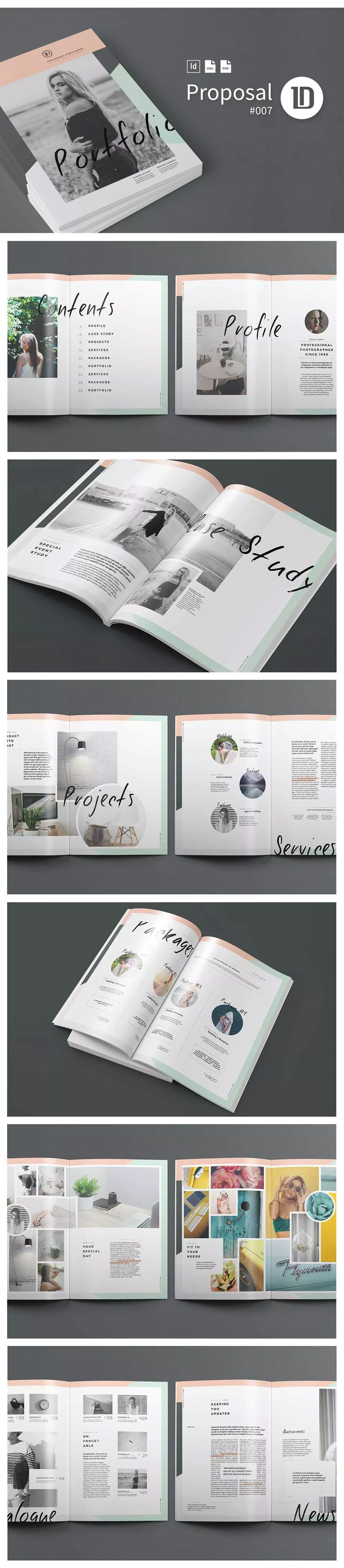 Portfolio Template INDD, EPS - 40 Pages A4 and US Letter Size