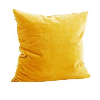 Mustard Yellow Velvet Cushion