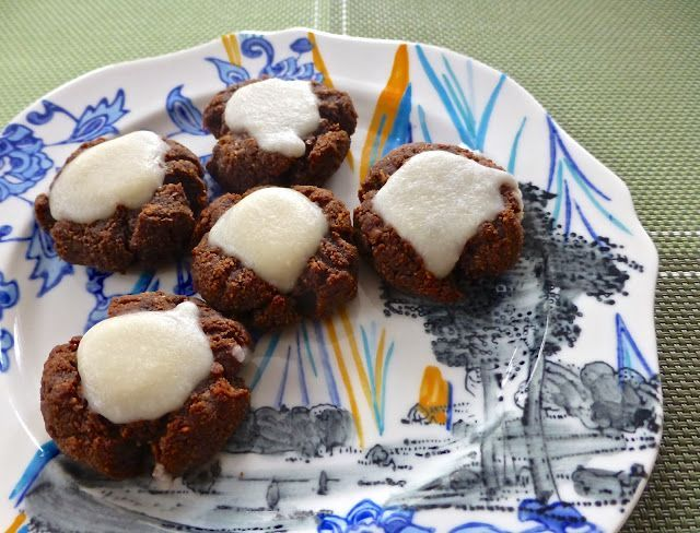 Pure and Simple Nourishment : Raspberry Chocolate Drop Cookies with Coconut Icing (Paleo, SCD, Dessert)