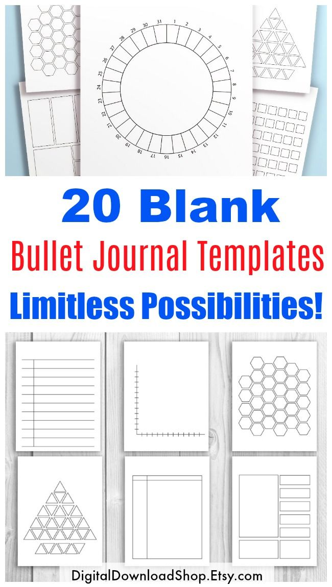 20 Bullet Journal Template Printables, Bullet Journal Printables