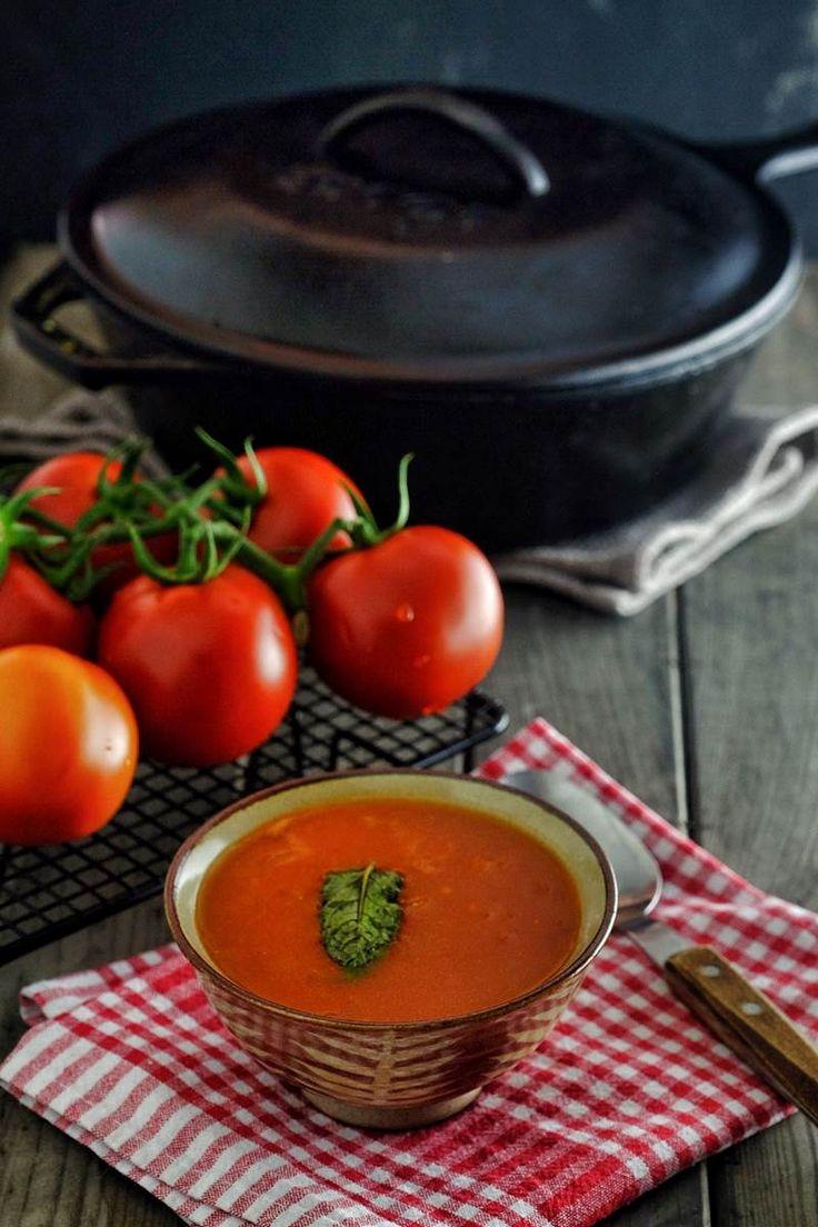 Demir Tavada Domates Çorbası                        -  Can Göktürk #yemekmutfak