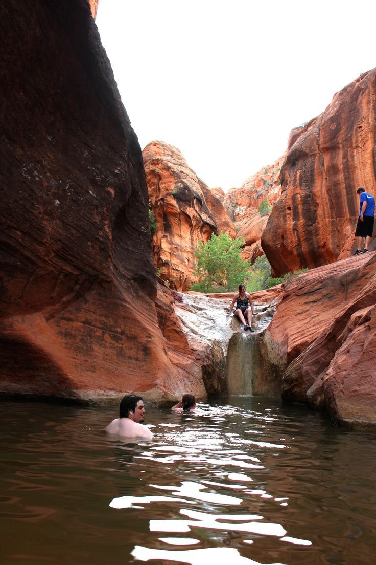 The Red Cliffs Utah campgrounds is home to natural water slides and swimming holes, dinosaur tracks, Native American archeological sites and more!