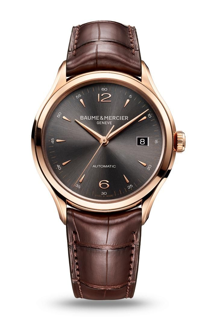 The Clifton 10059 automatic, red gold watch for men, designed by Baume et Mercier, Swiss Watch Maker. In loveee!