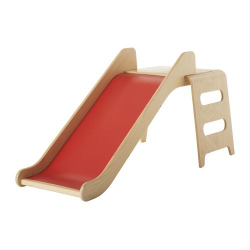 Ikea's Virre slide ($149) is a nice change of pace from the large plastic versions that are found in many basements. The birch veneer coordinates with most modern furniture as well.