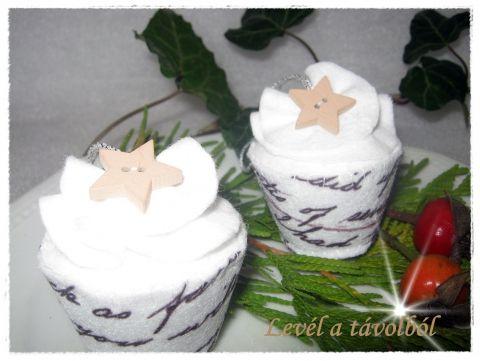 2 db os cupcake szett - Levél a távolból, Otthon, lakberendezés, Dekoráció, Karácsonyi, adventi apróságok, Karácsonyfadísz, Meska