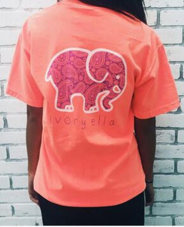 022215c49 Summer new tshirt Ivory Ella printing Elephant Print Tops T-Shirt Pocket  Jumper Pullover Sweatshirt