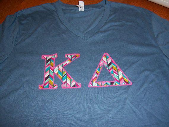 Delta phi epsilon sorority stitch shir tlong sleeve greek for Cute greek letter shirts
