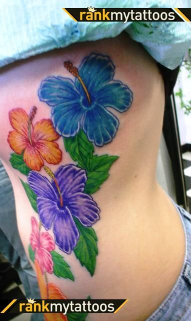 44 best hawaiian hibiscus tattoo images on pinterest for Hibiscus flower tattoo shoulder blade