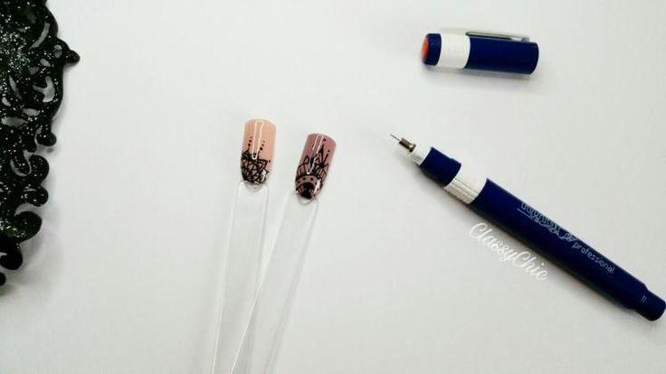 Rapidograph Nail art and Gel nails