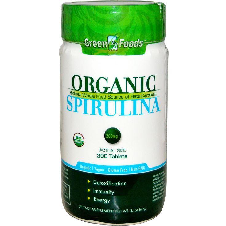 Green Foods Corporation, Organic, Spirulina, 300 Tablets - iHerb.com