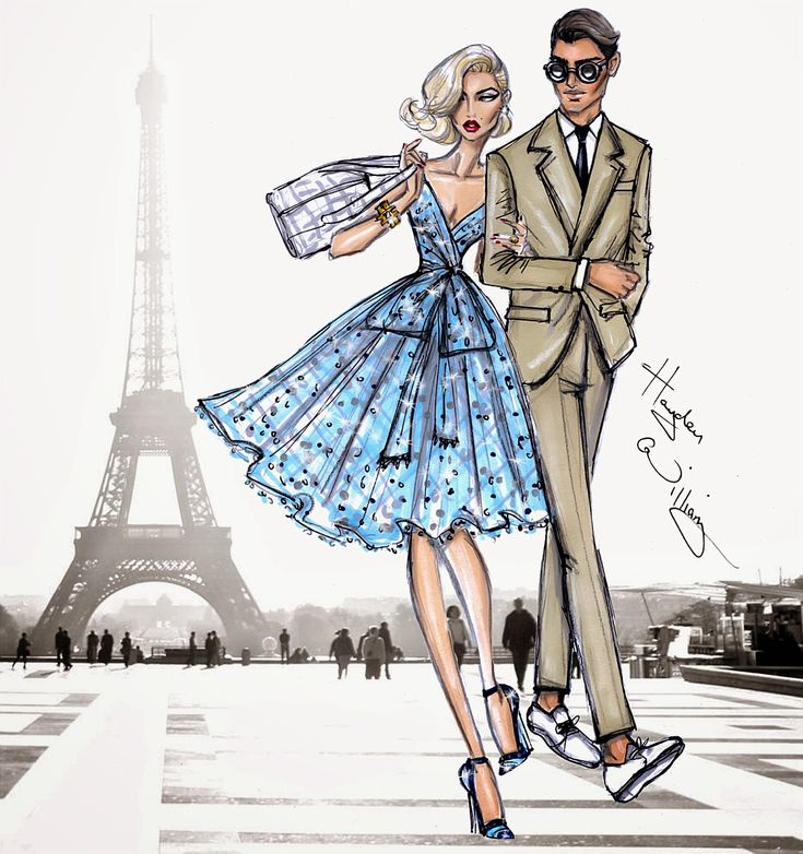 Hayden Williams Fashion Illustrations: Jet Set: 'Parisian Getaway' by Hayden Williams