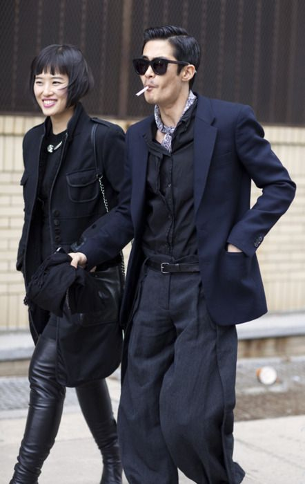 Baggy Dress Pants. Apparently, that look CAN be pulled off.