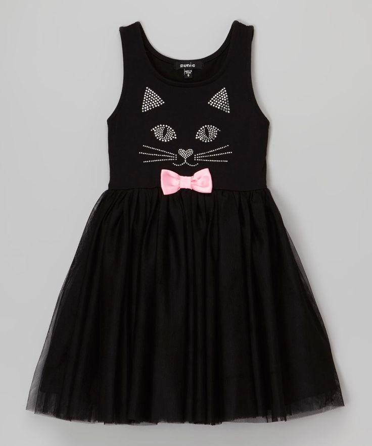 Zunie & Pinky Black Cat Tulle Dress