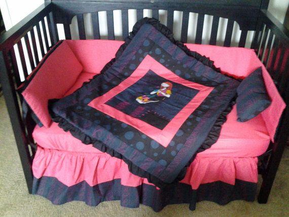 New 7 Piece Nightmare Before Christmas Sally Baby Crib