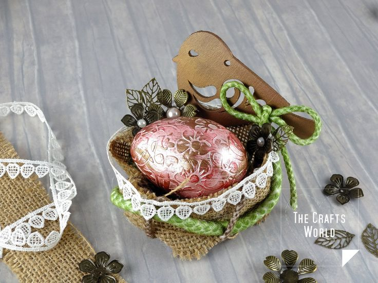 4SharesMake a quick and easy nest to place Easter eggs and decorate your table or give to friends.  Find this and many more projects in Buddly Crafts magazine!  Materials used Knorr Prandell 100cm (90″) wide Jute Hessian Fabric – 1m Natural Buddly Crafts Cotton Piping Cord – 5m – Size #6 7mm Buddly …