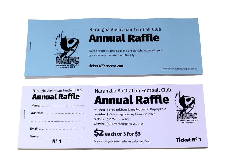 how to design a raffle ticket