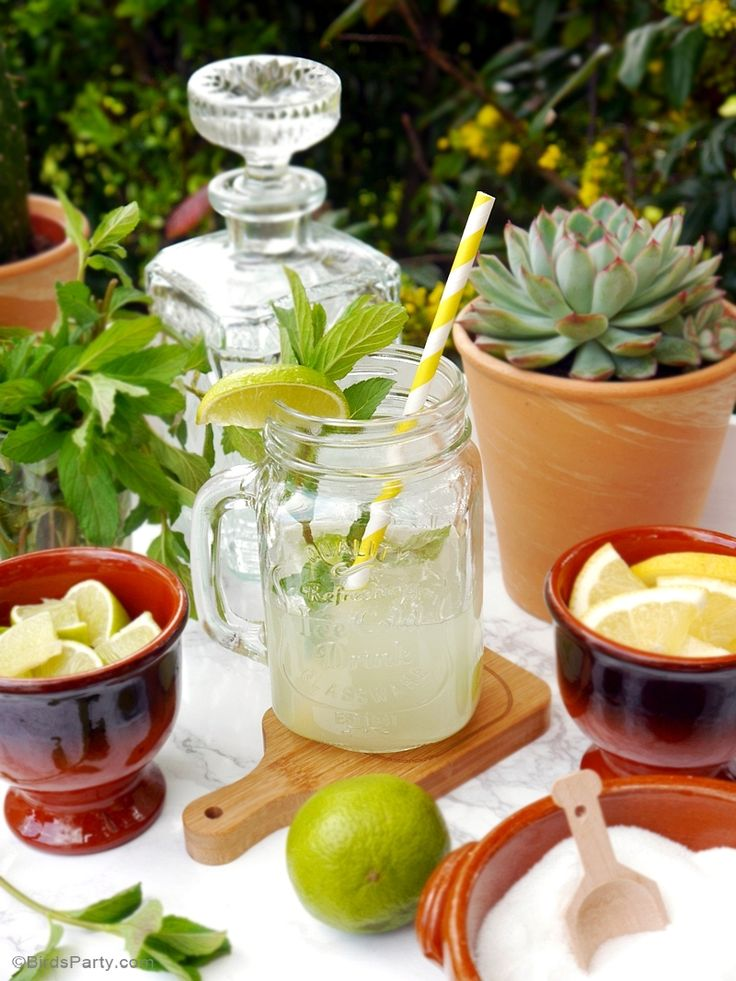 A DIY Mojito Bar with Recipe & Free Printables | Mexican ...