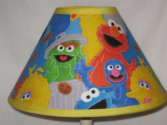 Sesame+Street+Fabric+Lamp+Shade+by+CassyCustomCreations+on+Etsy,+$25.00