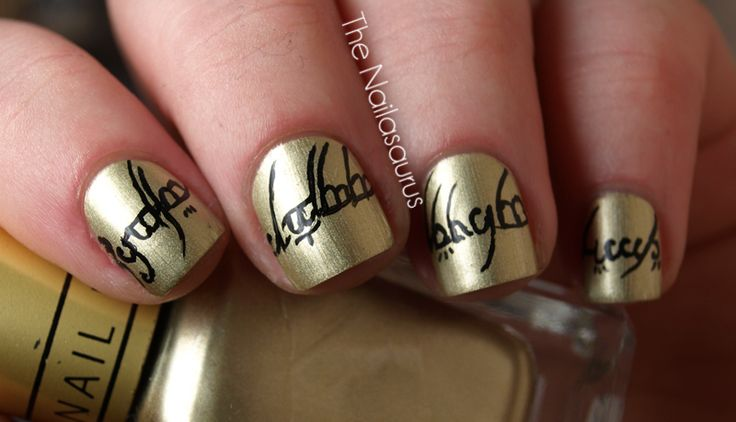 lord of the rings nail art..... veddi naise... veddi naise indeeeeed: Ring Nails, Nerd, Beauty, Rings Nails, Lotr Nails, Lord Of The Rings, Nail Art