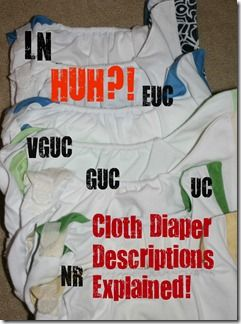 cloth diaper used condition definitions