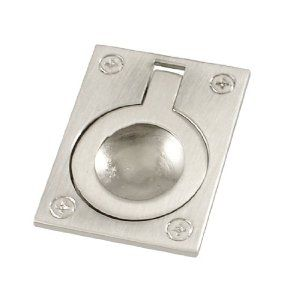 """Amico Concealed Screw Fix Stainless Steel Flush Pull Handle 2"""" Length by Amico. $4.86. Made of stainless steel material in silver tone color, rectangular shape, finger pull, comfortable touch. With two screws to mount, widely used for furniture, such as door, cabinet, cupboard, drawer, dresser and so on."""