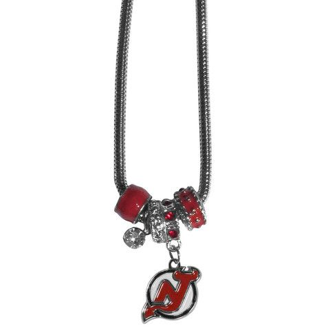 New Jersey Devils® Euro Beaded Necklace