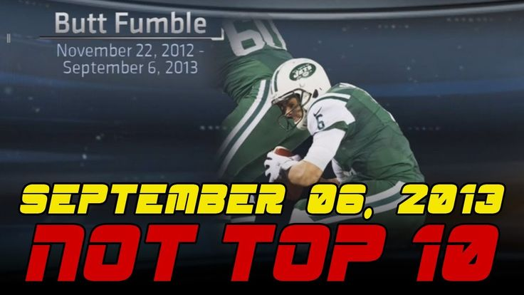 ESPN SportsCenter's Not Top Ten - 09-06-13 - Butt Fumble Retirement Edition