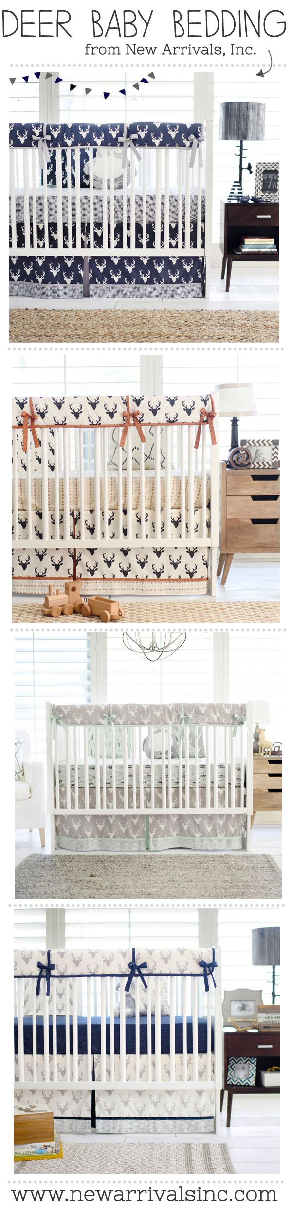 Create adventure in your Woodland Nursery with our Deer Crib Bedding!  From New Arrivals, Inc. <3