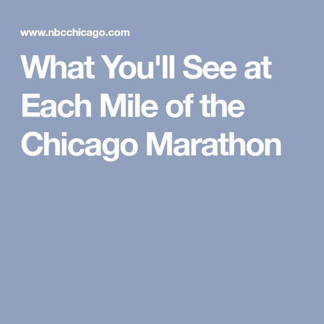 What You'll See at Each Mile of the Chicago Marathon