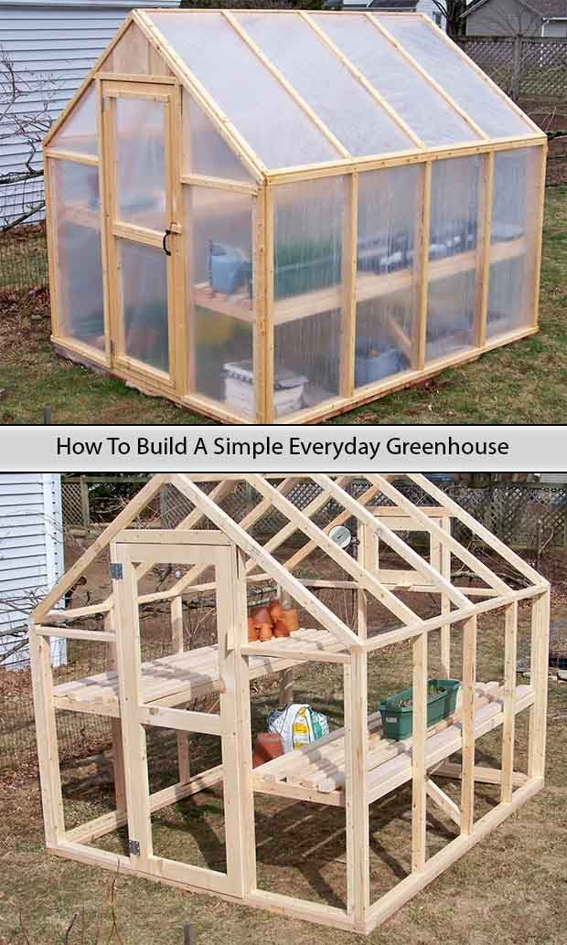 How To Build A Simple Everyday Greenhouse http://www.livinggreenandfrugally.com/how-to-build-a-simple-everyday-greenhouse/ #greenhousegardening
