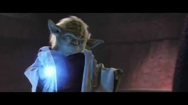 """Yoda - """"Much to learn you still have."""" The badass in Yoda is strong. Attack of the Clones is owned by Lucasfilm. No copyright infringement intended."""