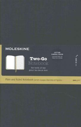 Moleskine Two-go Notebook Medium Ruled-plain Oriental Blue : 9781223128023