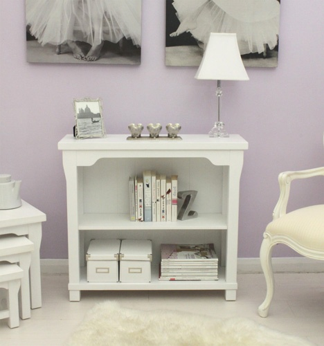 Hampton New England style white painted furniture low office bookcase | eBay