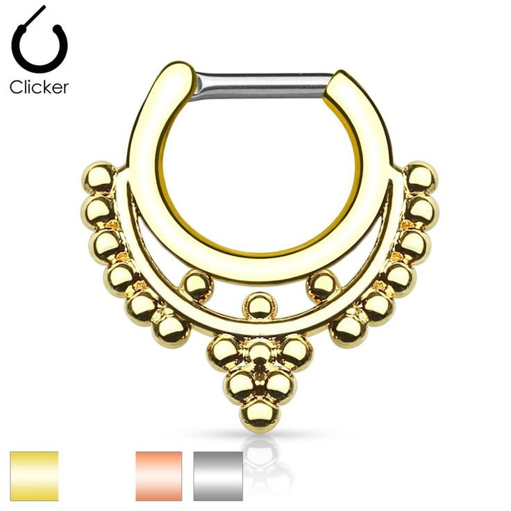 size 16g and 14gBar Length: 6mmInside: W:8.4mm, H:7.4mmWhole: W:16.9mm, H:17.4mmBar is made of implant grade surgical steel and body is made of brass with ion plating.BODY JEWELRY IS FINAL SALE. NO RETURNS/REFUNDS.