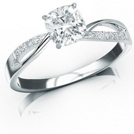 This is a different kind of twisted band. -DR. 0.99 Carat GIA Certified Cushion Cut / Shape  Holiday Adds